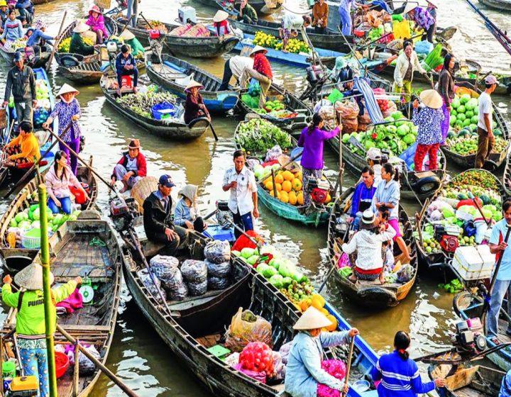 Tien Giang Vinh Long 1 Ngay Cho Noi Cai Be